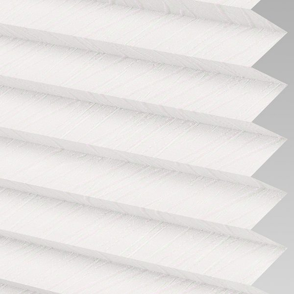 Chenille ASC White Pleated Blind