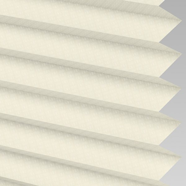 Grid Cream Pleated Blind