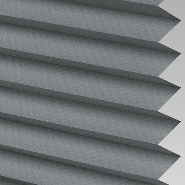 Grid Graphite Pleated Blind