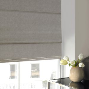 Skipton Pewter Roman Blind with Standard Lining