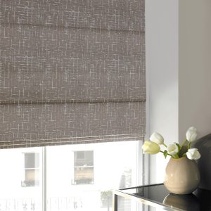 Abingdon Navy Roman Blind with Standard Lining